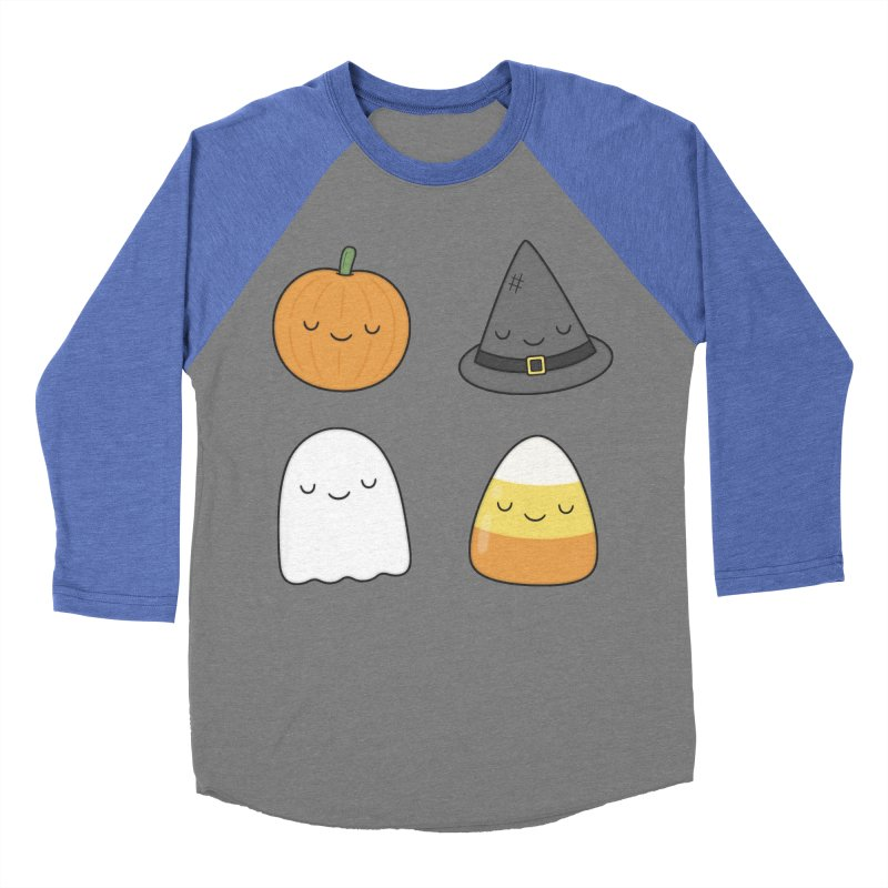 Happy Halloween Men's Baseball Triblend T-Shirt by Kim Vervuurt