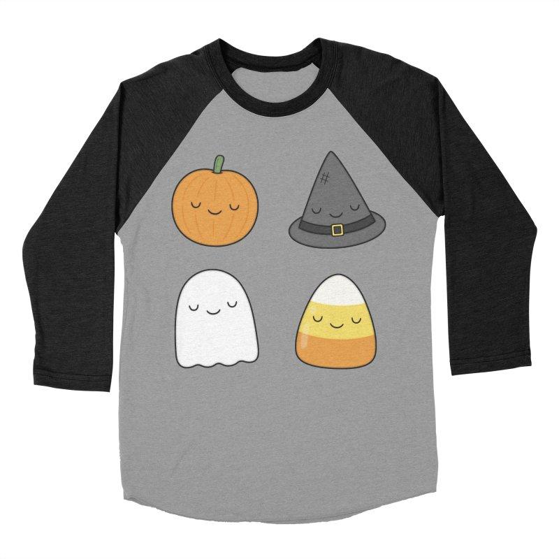 Happy Halloween Men's Baseball Triblend T-Shirt by Kim Vervuurt