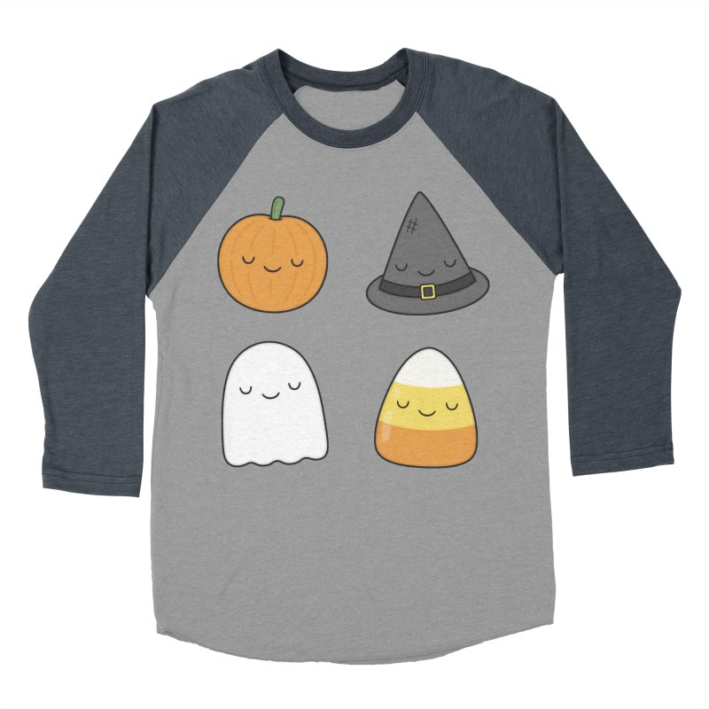 Happy Halloween Men's Baseball Triblend Longsleeve T-Shirt by Kim Vervuurt