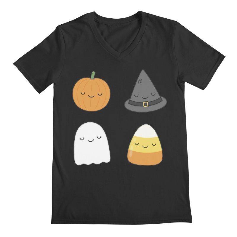 Happy Halloween Men's V-Neck by Kim Vervuurt