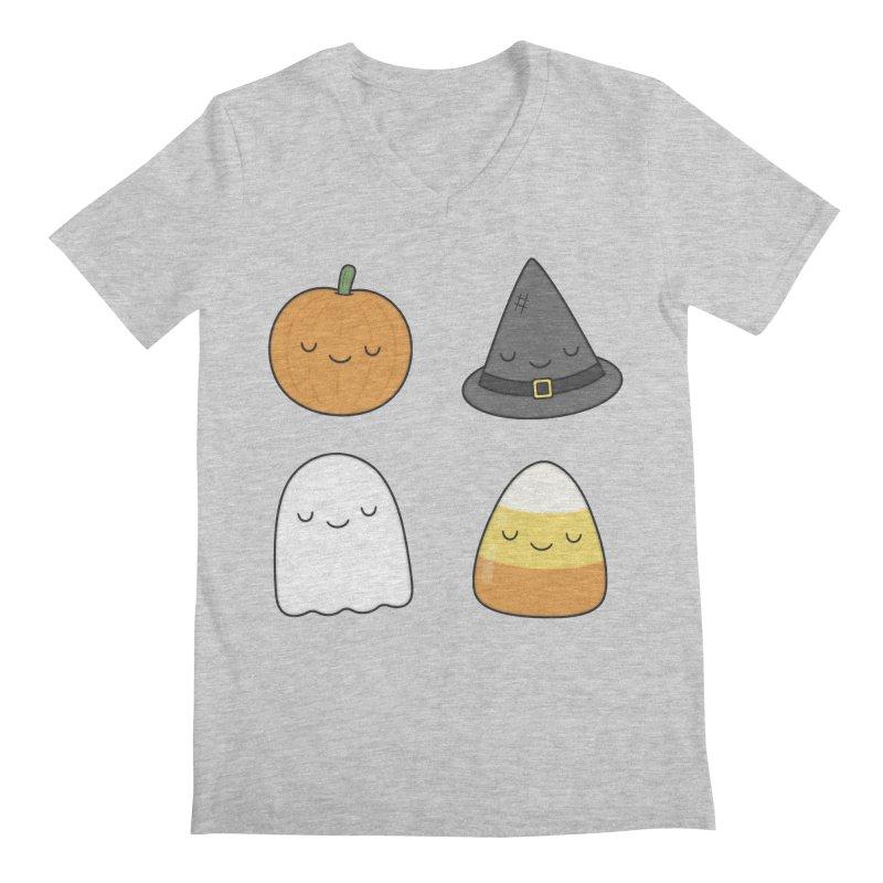 Happy Halloween Men's Regular V-Neck by Kim Vervuurt