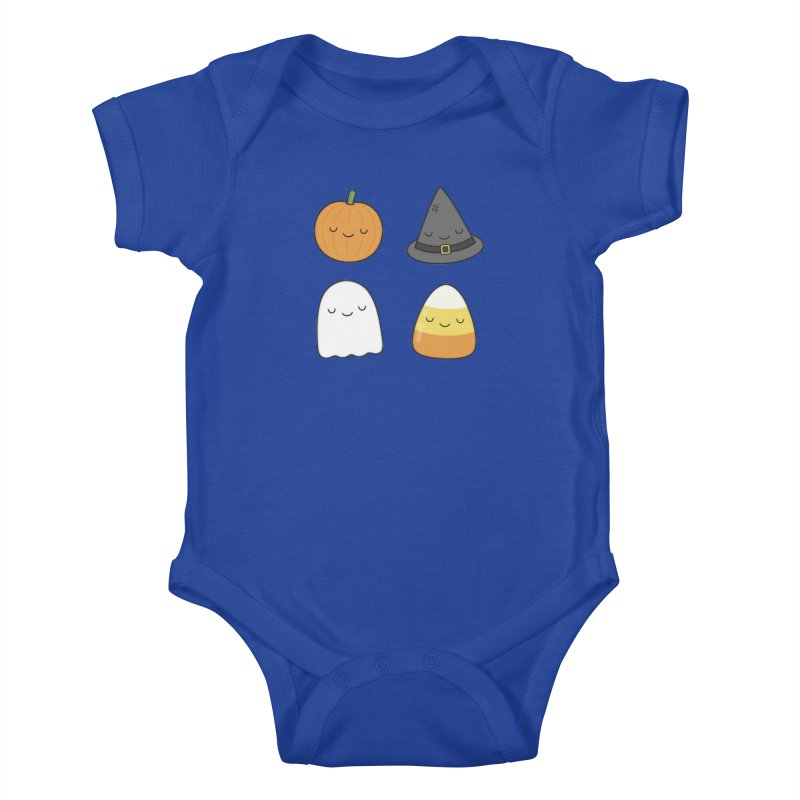 Happy Halloween Kids Baby Bodysuit by Kim Vervuurt