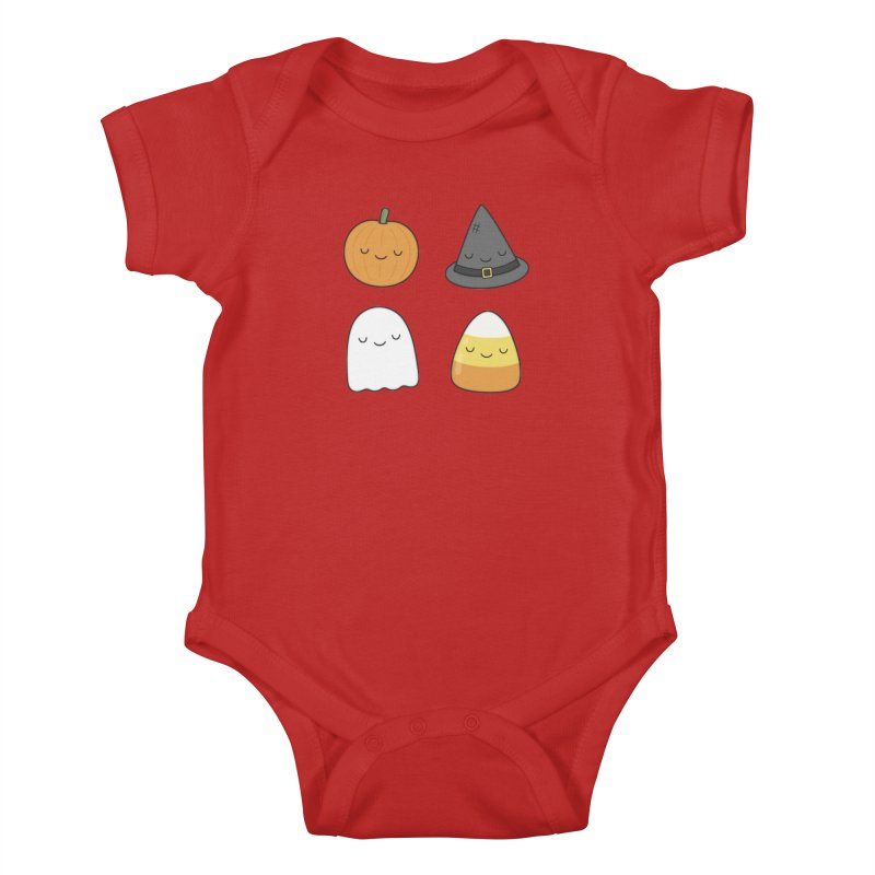 Happy Halloween Kids Baby Bodysuit by Kim Vervuurt