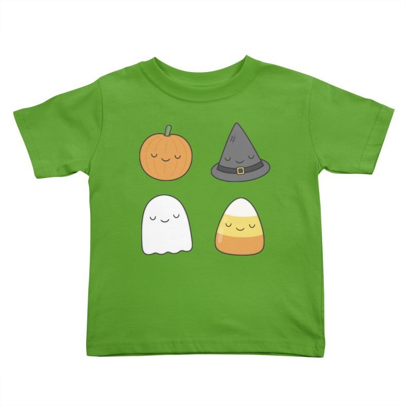 Happy Halloween Kids Toddler T-Shirt by Kim Vervuurt