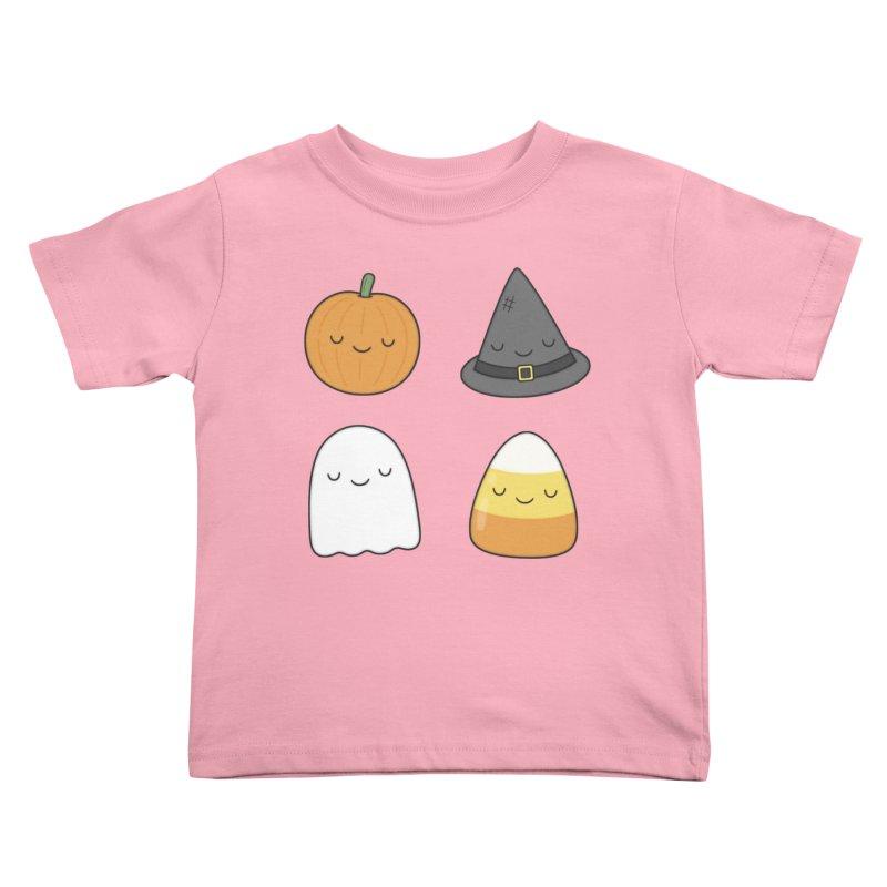 Happy Halloween Kids Toddler T-Shirt by Kim Vervuurt