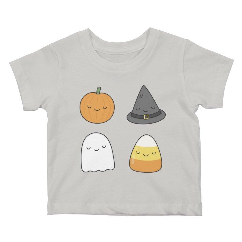 Happy Halloween Kids Baby T-Shirt by Kim Vervuurt