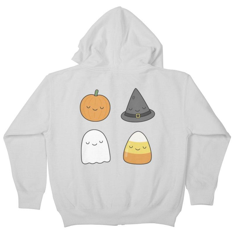 Happy Halloween Kids Zip-Up Hoody by Kim Vervuurt