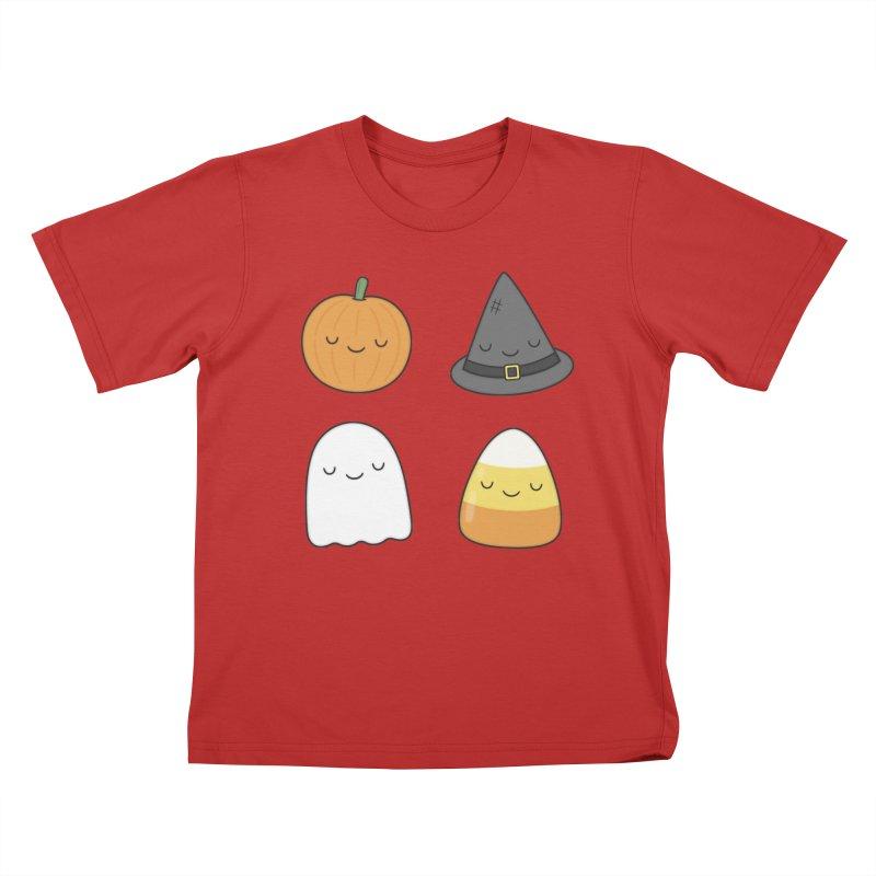 Happy Halloween Kids T-Shirt by Kim Vervuurt