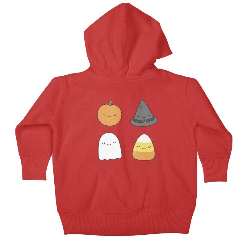 Happy Halloween Kids Baby Zip-Up Hoody by Kim Vervuurt