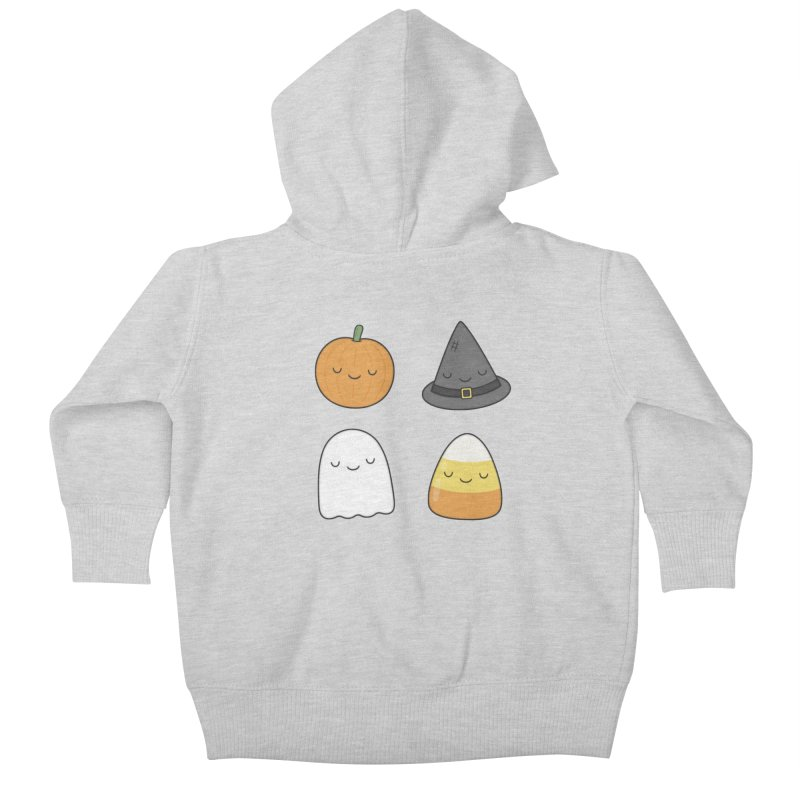 Happy Halloween Kids Baby Zip-Up Hoody by Kim Vervuurt