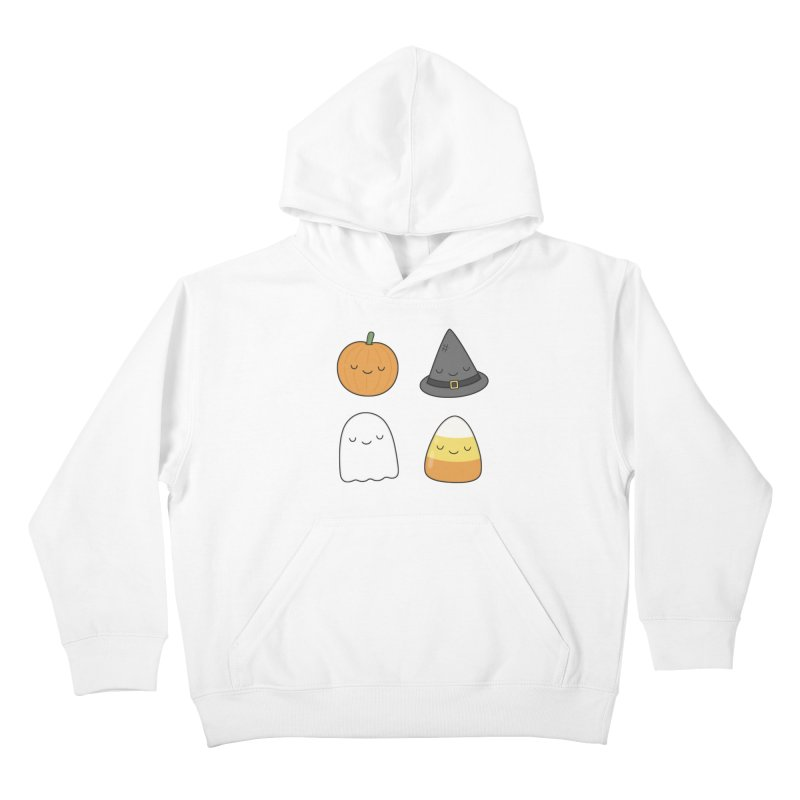 Happy Halloween Kids Pullover Hoody by Kim Vervuurt