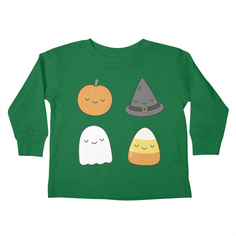 Happy Halloween Kids Toddler Longsleeve T-Shirt by Kim Vervuurt