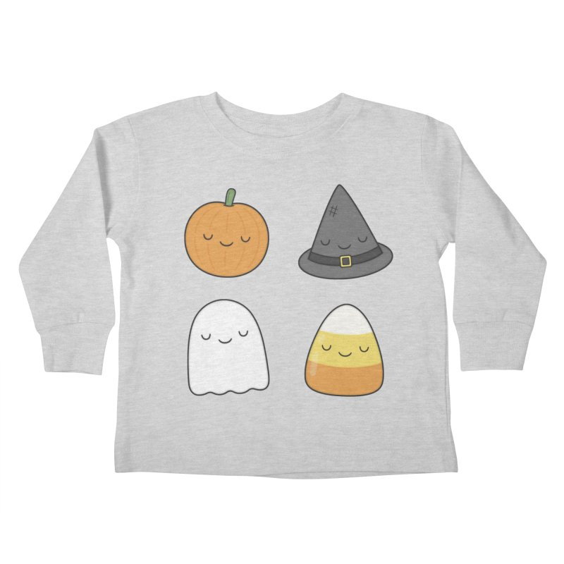 Happy Halloween Kids Toddler Longsleeve T-Shirt by Kim Vervuurt