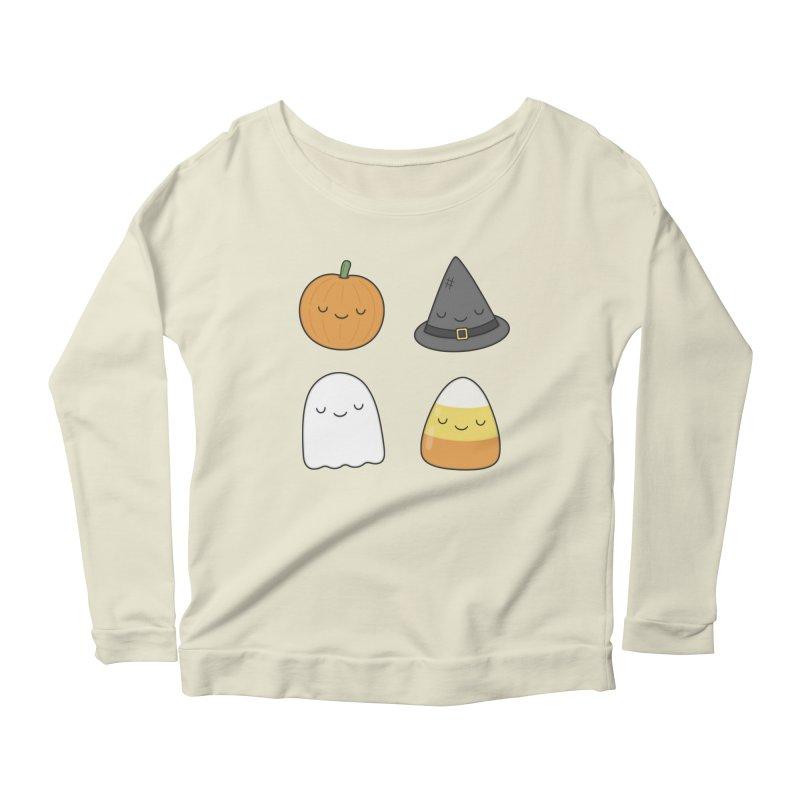 Happy Halloween Women's Scoop Neck Longsleeve T-Shirt by Kim Vervuurt