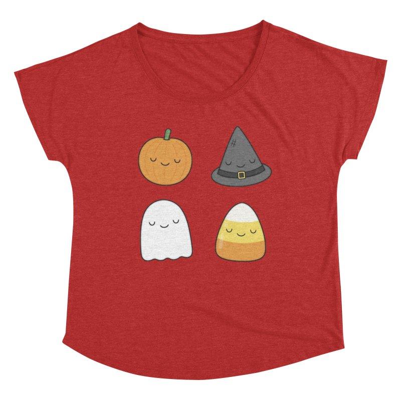 Happy Halloween Women's Dolman Scoop Neck by Kim Vervuurt