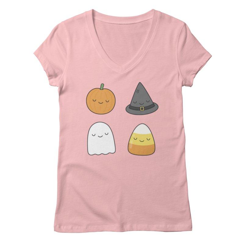 Happy Halloween Women's V-Neck by Kim Vervuurt