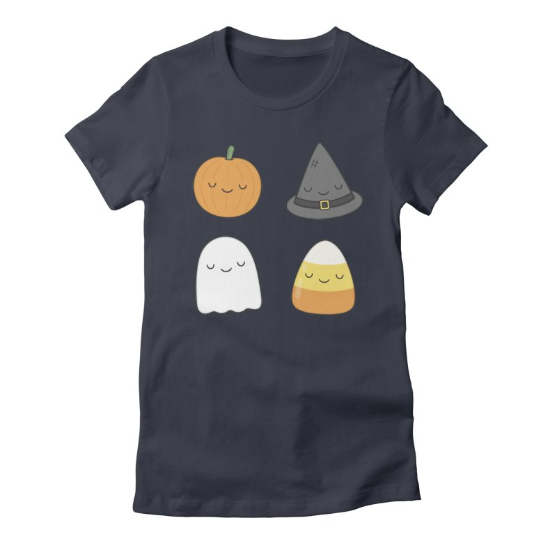 Happy Halloween Women's Fitted T-Shirt by Kim Vervuurt