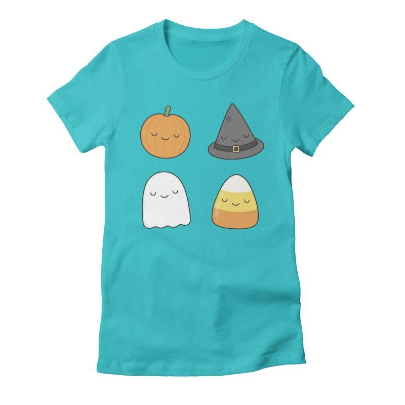 Happy Halloween Women's Fitted T-Shirt by Kim Vervuurt