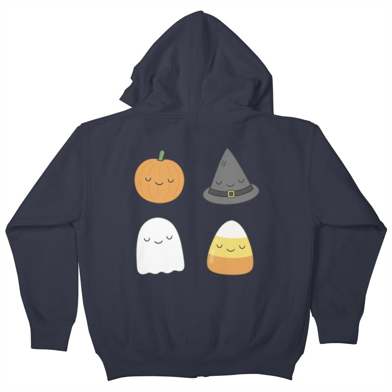 Happy Halloween Kids Zip-Up Hoody by Kim Vervuurt