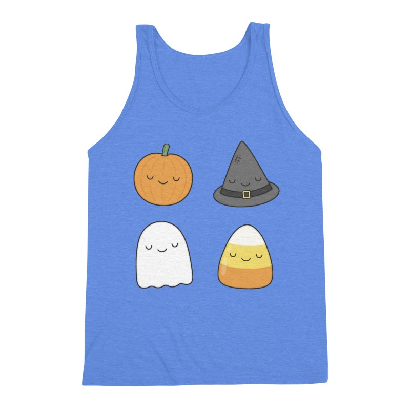 Happy Halloween Men's Triblend Tank by Kim Vervuurt