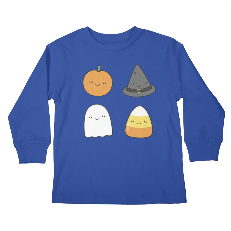 Happy Halloween Kids Longsleeve T-Shirt by Kim Vervuurt