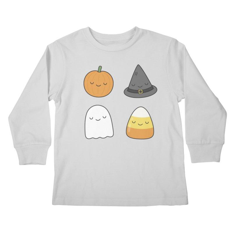 Happy Halloween Kids Longsleeve T-Shirt by Kim Vervuurt