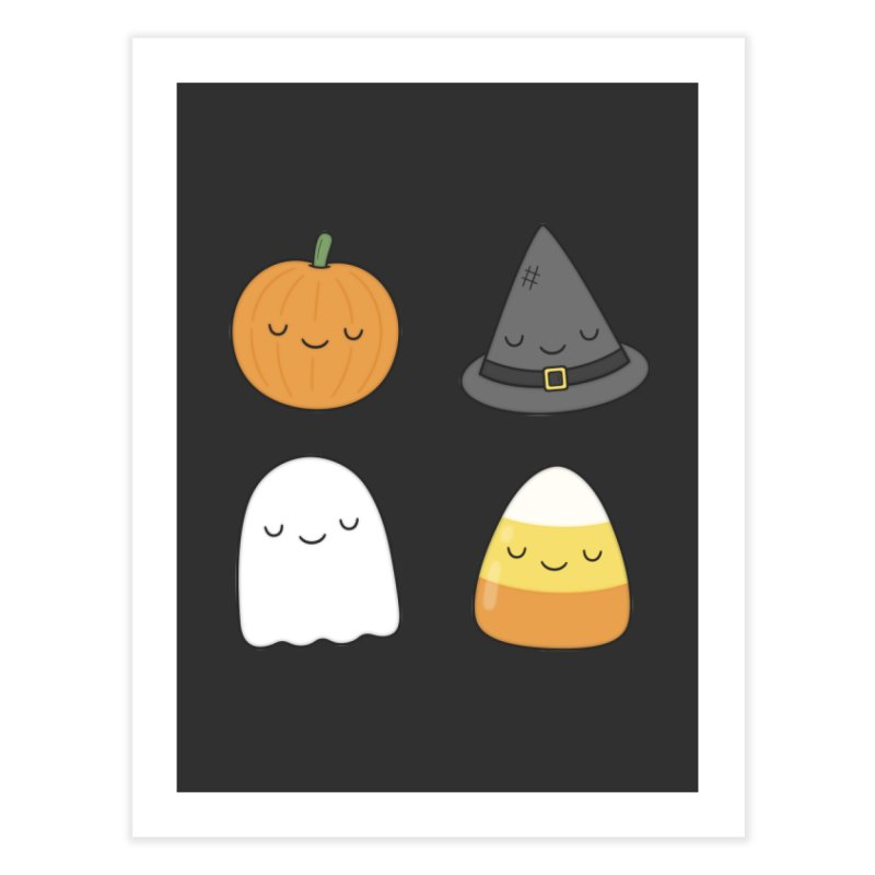 Happy Halloween Home Fine Art Print by Kim Vervuurt