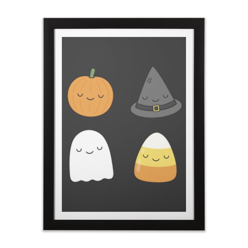 Happy Halloween Home Framed Fine Art Print by Kim Vervuurt