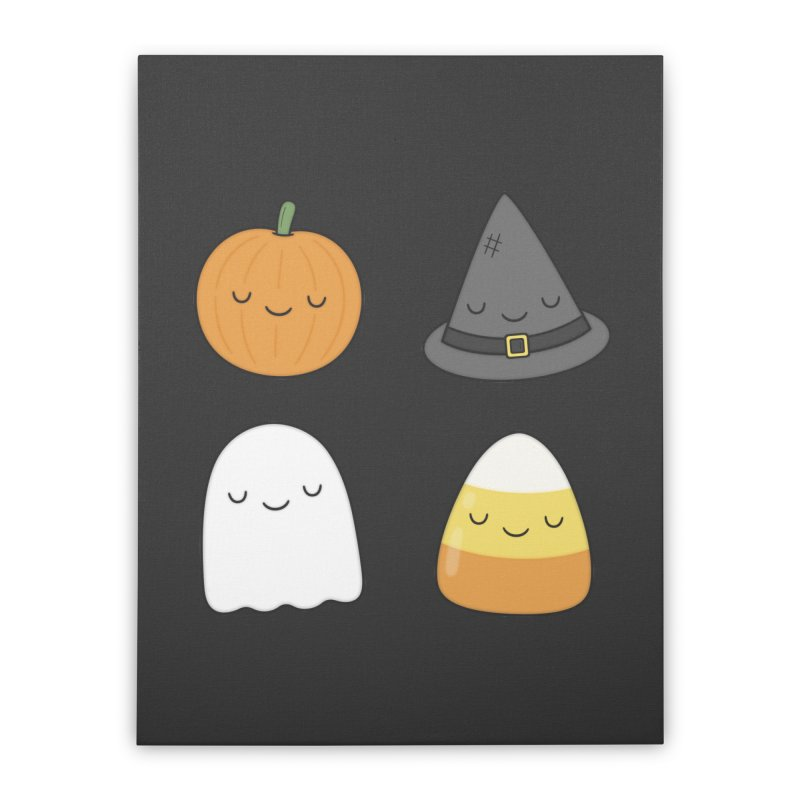 Happy Halloween Home Stretched Canvas by Kim Vervuurt