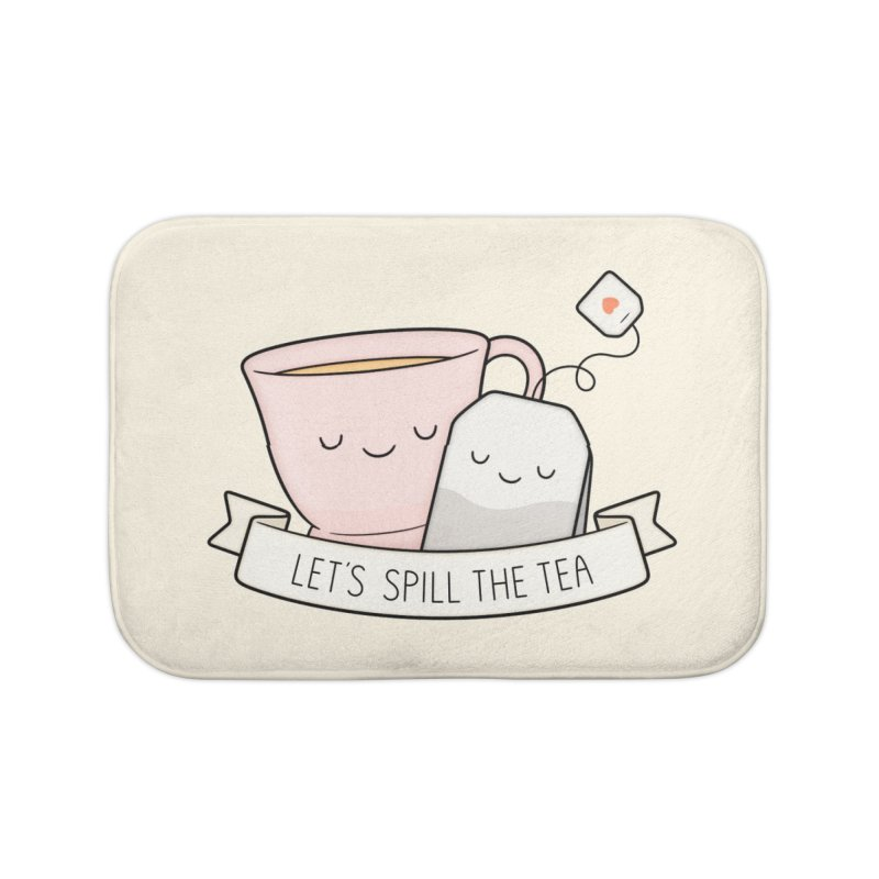 Let's Spill The Tea Home Bath Mat by Kim Vervuurt