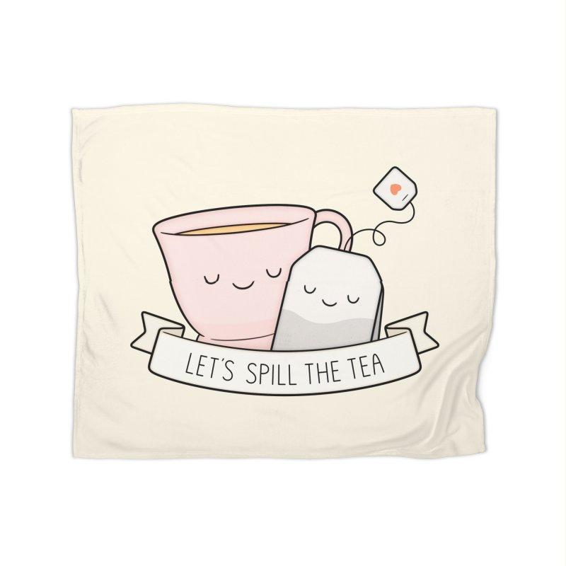 Let's Spill The Tea Home Fleece Blanket Blanket by Kim Vervuurt