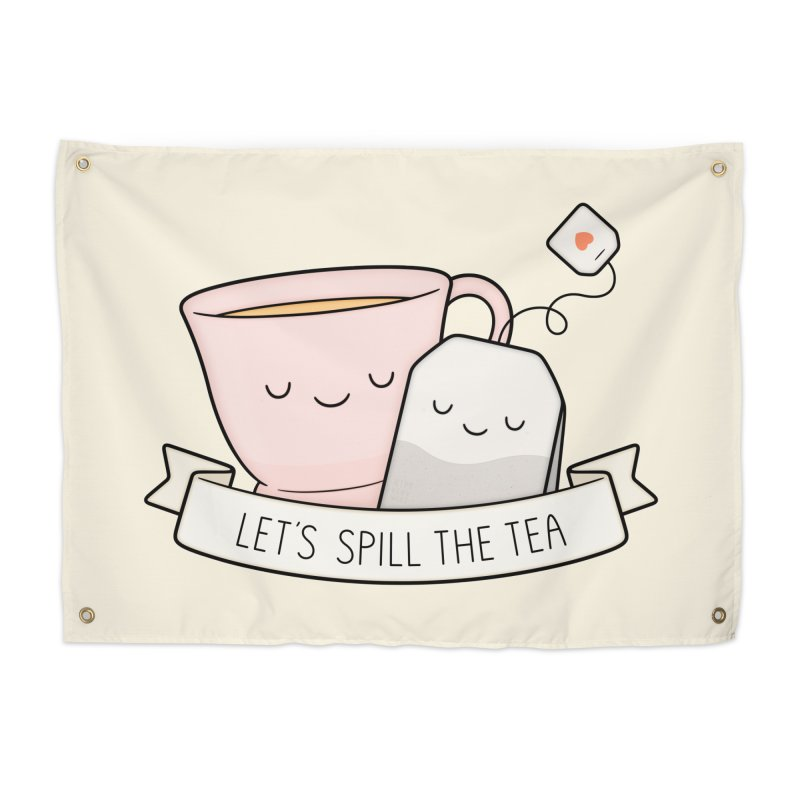 Let's Spill The Tea Home Tapestry by Kim Vervuurt