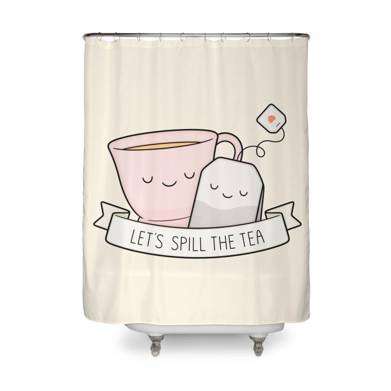 Let's Spill The Tea Home Shower Curtain by Kim Vervuurt