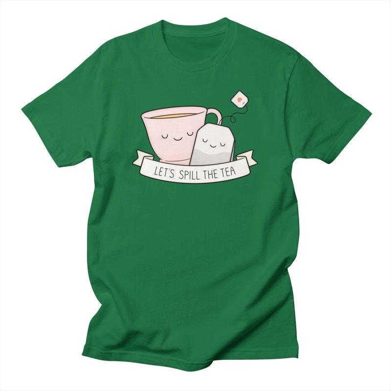 Let's Spill The Tea Men's T-Shirt by Kim Vervuurt