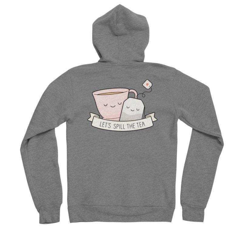 Let's Spill The Tea Men's Sponge Fleece Zip-Up Hoody by Kim Vervuurt