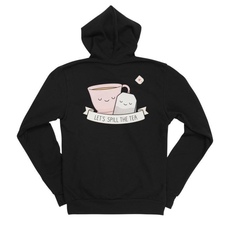 Let's Spill The Tea Women's Sponge Fleece Zip-Up Hoody by Kim Vervuurt