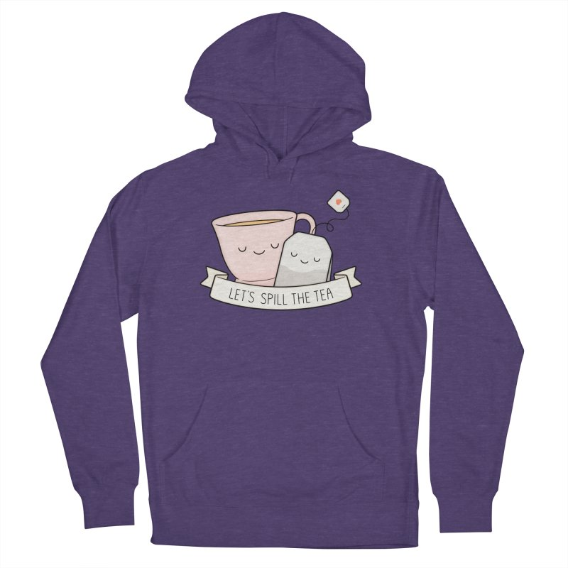 Let's Spill The Tea Men's French Terry Pullover Hoody by Kim Vervuurt