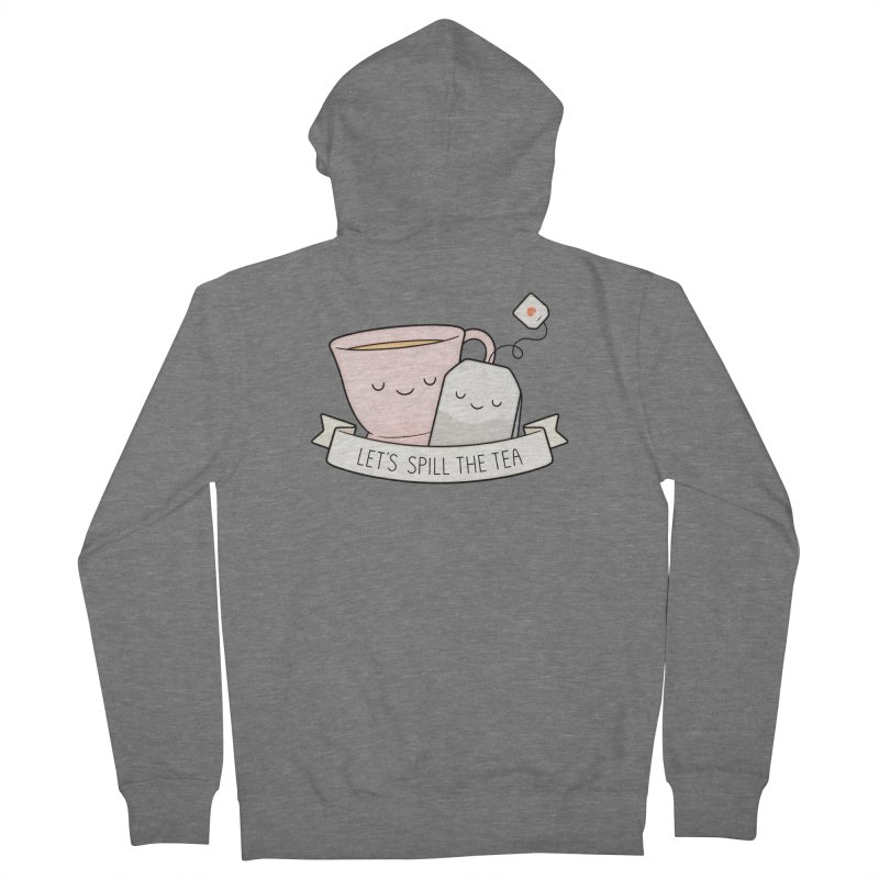 Let's Spill The Tea Men's French Terry Zip-Up Hoody by Kim Vervuurt