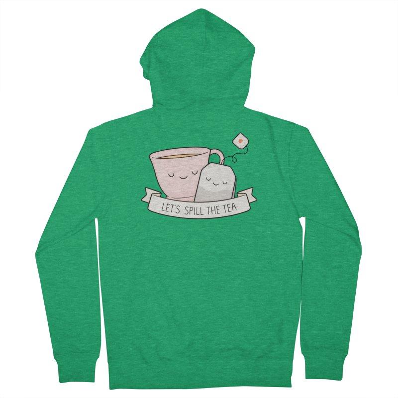 Let's Spill The Tea Men's Zip-Up Hoody by Kim Vervuurt