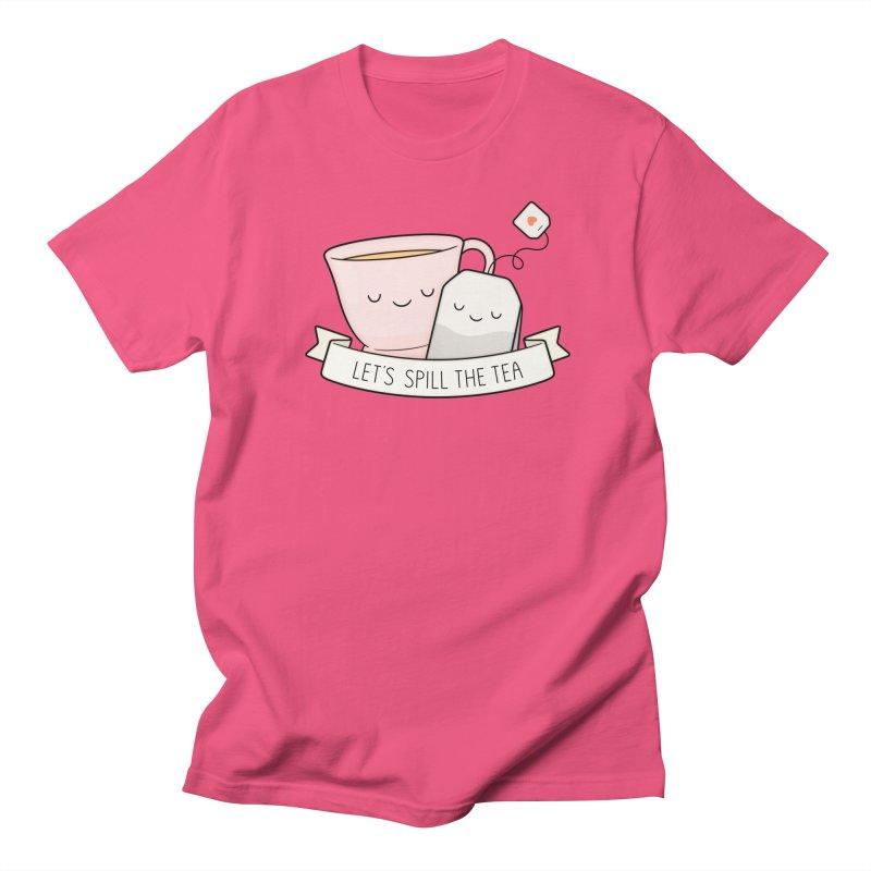 Let's Spill The Tea Women's Regular Unisex T-Shirt by Kim Vervuurt