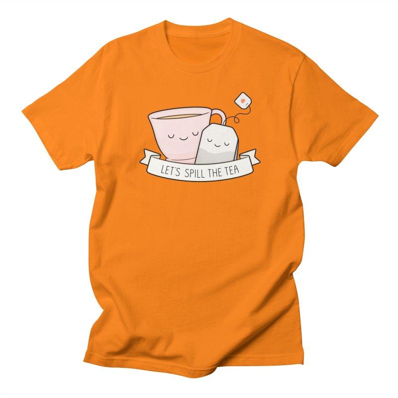 Let's Spill The Tea Men's Regular T-Shirt by Kim Vervuurt