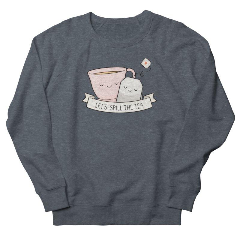 Let's Spill The Tea Men's French Terry Sweatshirt by Kim Vervuurt