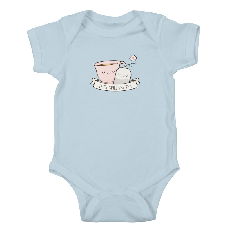 Let's Spill The Tea Kids Baby Bodysuit by Kim Vervuurt