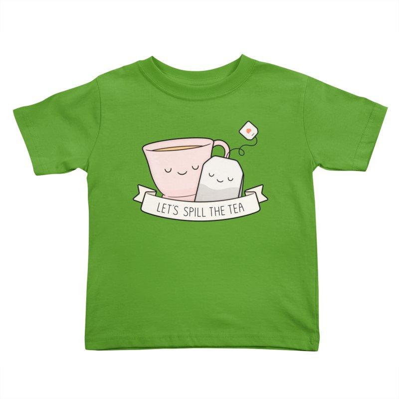 Let's Spill The Tea Kids Toddler T-Shirt by Kim Vervuurt