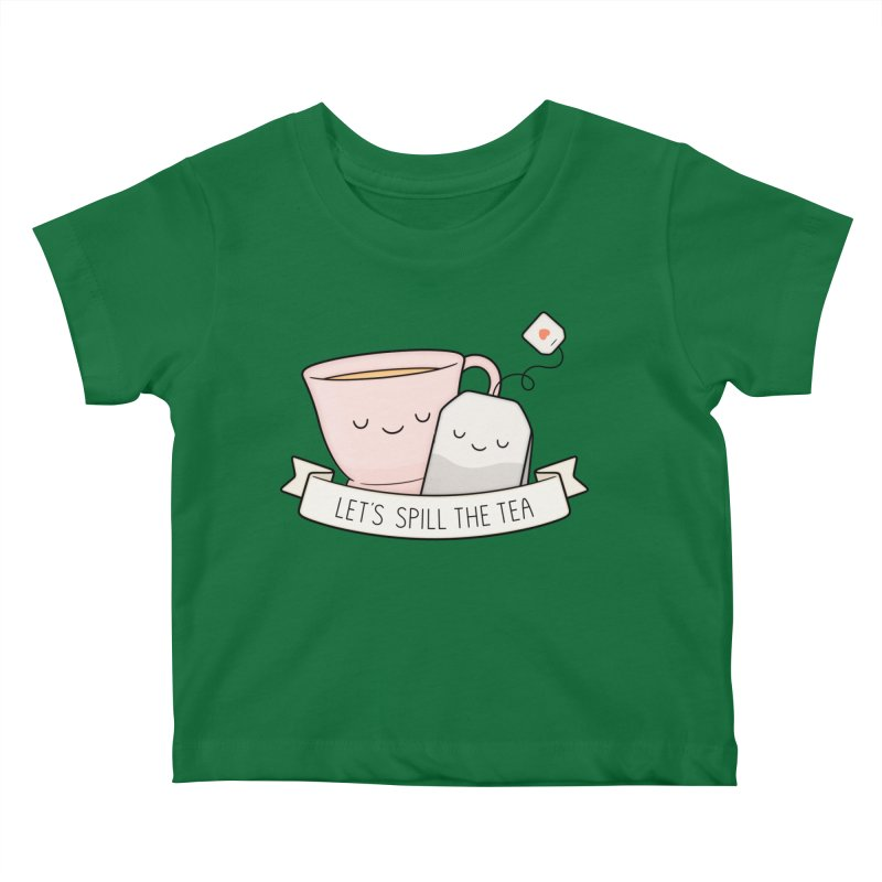 Let's Spill The Tea Kids Baby T-Shirt by Kim Vervuurt