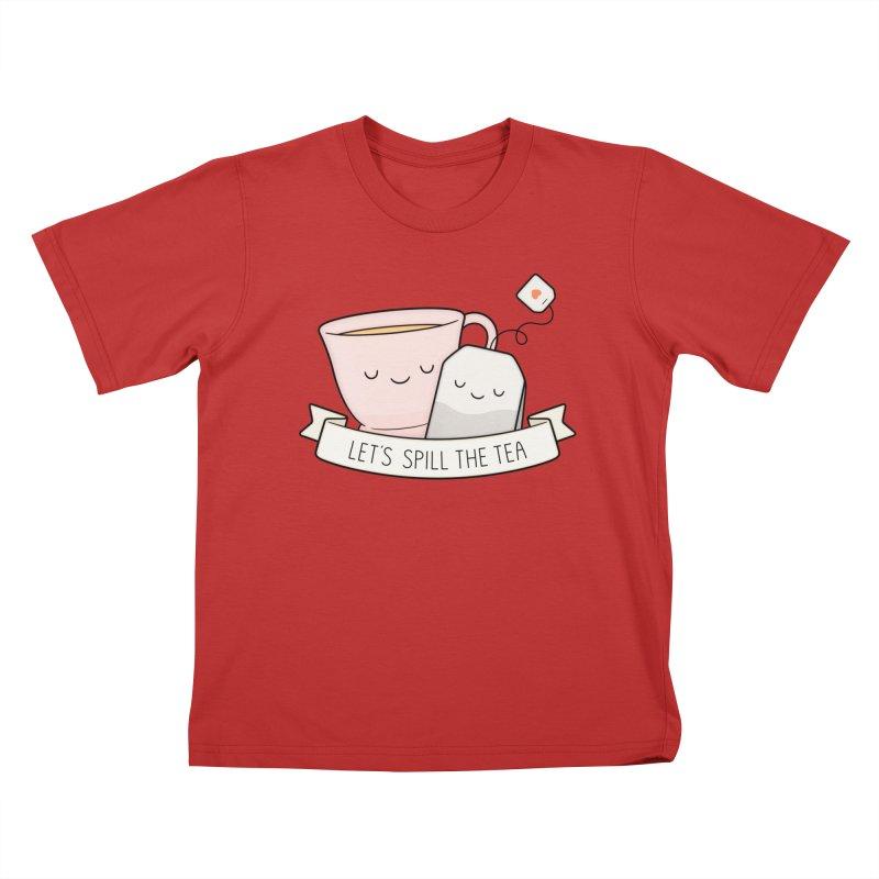 Let's Spill The Tea Kids T-Shirt by Kim Vervuurt