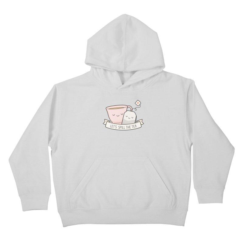 Let's Spill The Tea Kids Pullover Hoody by Kim Vervuurt