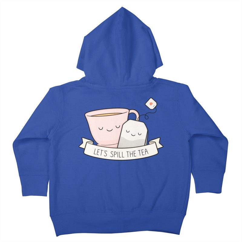 Let's Spill The Tea Kids Toddler Zip-Up Hoody by Kim Vervuurt