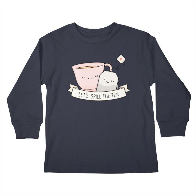 Let's Spill The Tea Kids Longsleeve T-Shirt by Kim Vervuurt