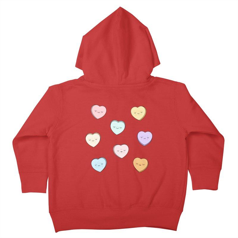 Sweet Candy Hearts Kids Toddler Zip-Up Hoody by Kim Vervuurt